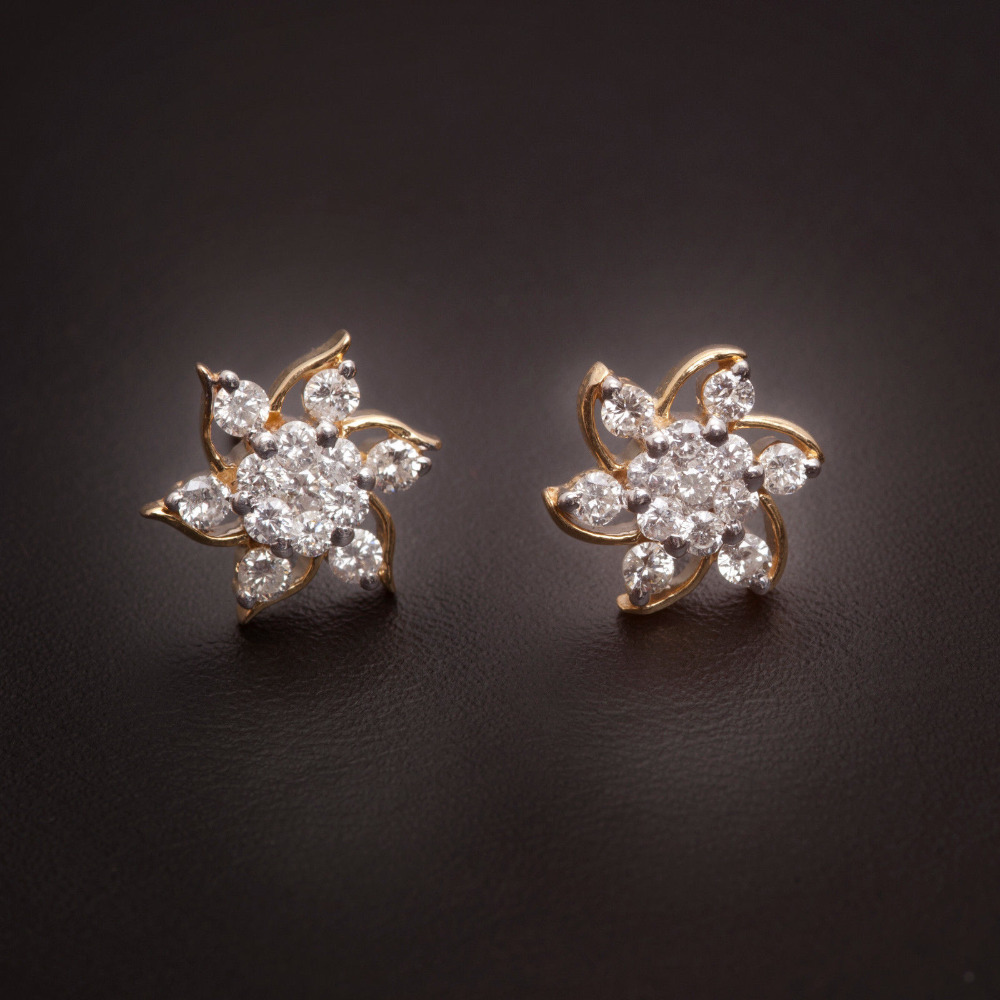 Daily Wear Real Diamond Earrings For Girls - Buy Daily Wear ...
