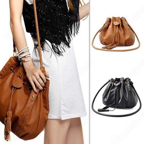 dcfd11da3463 Shoulder Bags Women Lady Pu Leather Bucket Crossbody Messenger Bags ...
