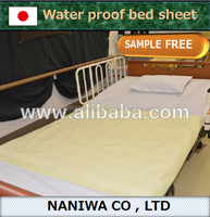 Comfortable urinary incontinence stocked bed sheet by Japanese manufacturer