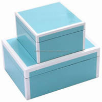 Vietnam Lacquer Box/ Wholesale lacquered box with white line