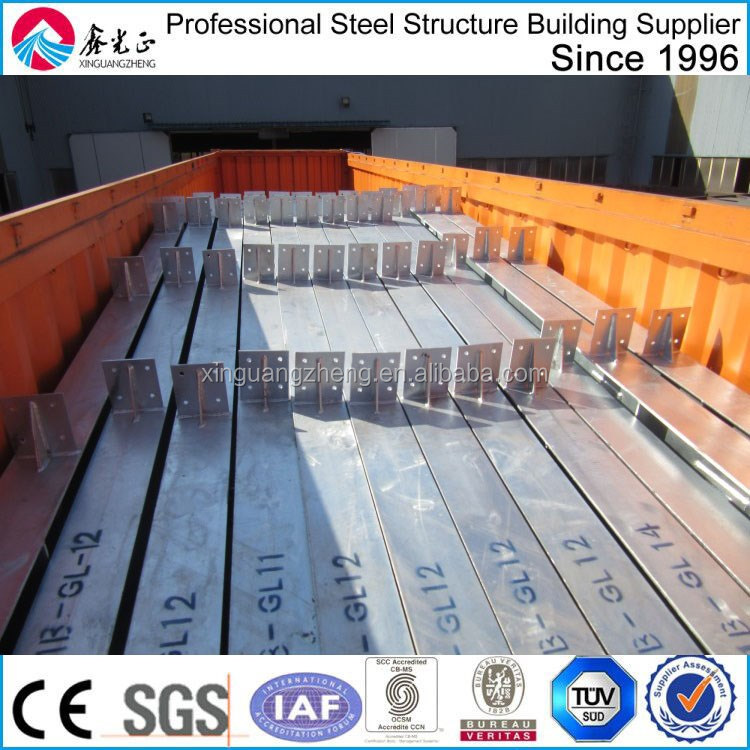 construction metal corrugated sheet steel structure warehouse