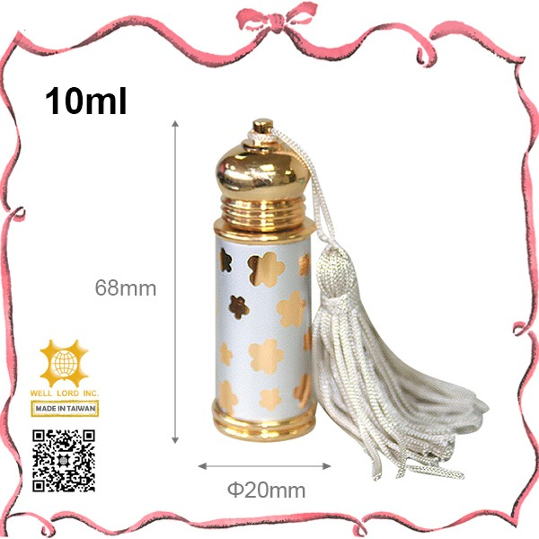 Best quality Taiwan gold cap aluminum olive 5ml essential oil bottle