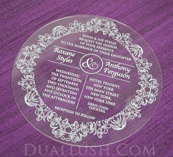 acrylic invitations wholesale laser cut clear acrylic wedding