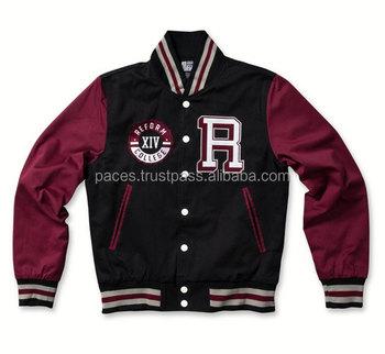 Red Black Varsity Jacket/customize Baseball Jacket / Lettermen ...