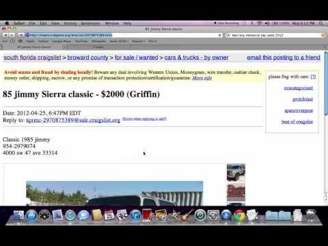 Craigslist Used Cars For Sale by Owner - Searching Vehicles Under $1500
