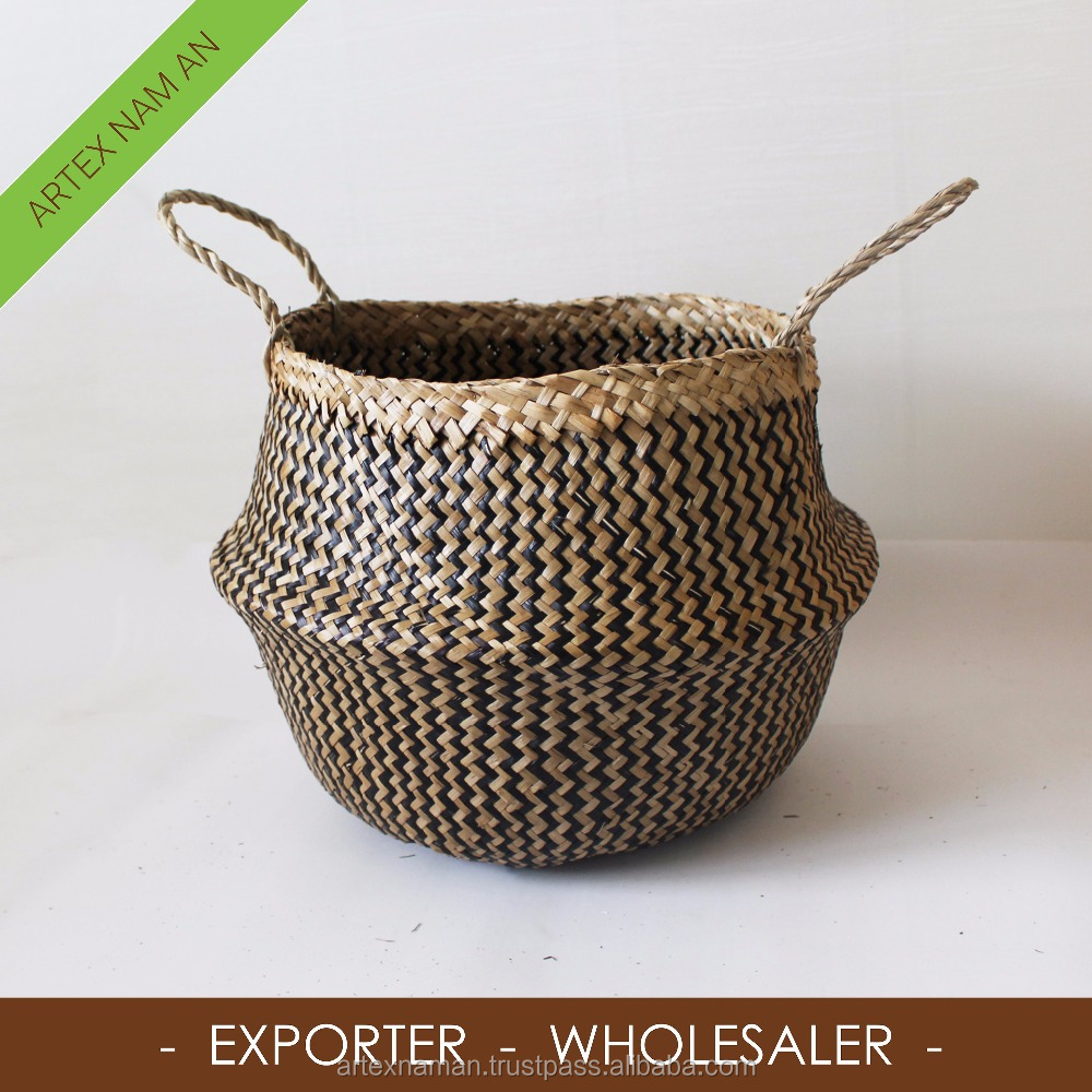 Merveilleux Straw Storage Baskets Folding Storage Basket Woven Seagrass Bag From  Vietnam   Buy Belly Seagrass Basket,Seagrass Basket,Folding Seagrass Basket  Product On ...