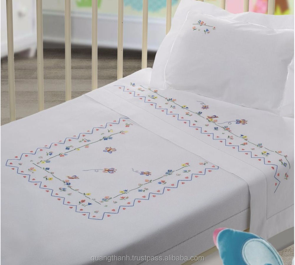 Hand Embroidered Baby Bedding Set No1embroidery Children Bedding
