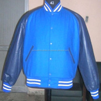 Blue Trendy Varsity Jacket\Winter Embroidered Cotton Wool Varsity Jacket for Men\women