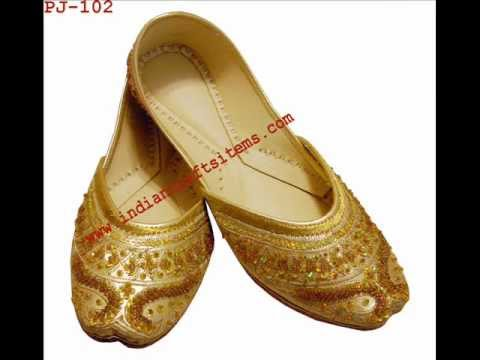 Women Beaded shoes,Khussa shoes,Punjabi jutti,Flat shoes,Indian shoes,wedding shoes