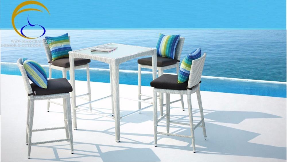 El más nuevo diseño clásico patio jardín taburete silla de Mimbre ...