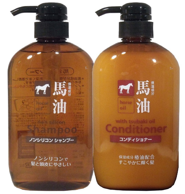 Japanese excellent penetration horse oil shampoo&conditioner for all seasons