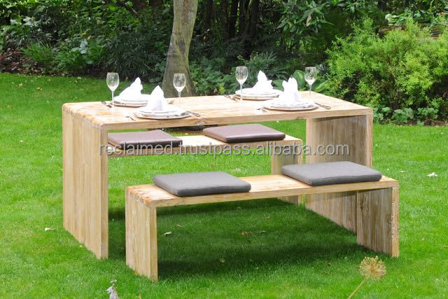 Tuin Dining Sets : Outdoor dining set made of recycled elm wood buy reclaimed