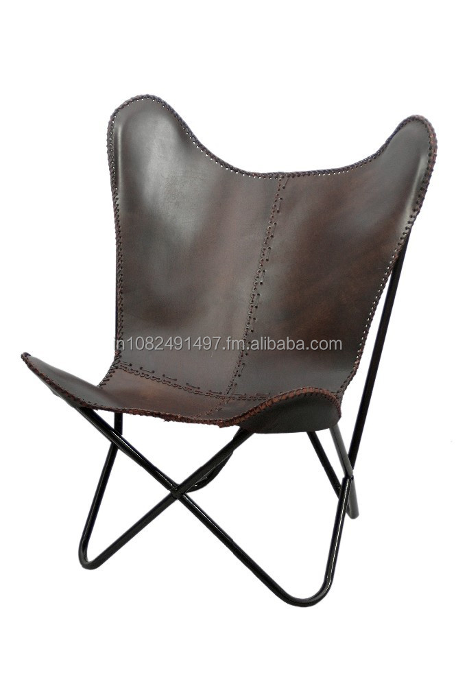Iron Folded Frame Leather Butterfly Chair   Buy Metal Frame Leather Chair  Product On Alibaba.com