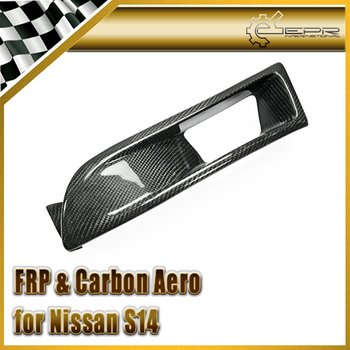 Carbon Fiber / FRP Fiber Glass Vented Front Headlight Cover Air Duct For Nissan Silvia S14 Early Model