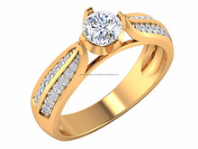 Designer Eternity Love 14kt Yellow Gold IGI Certified Solitaire Pave wedding Lovely Gift For Female