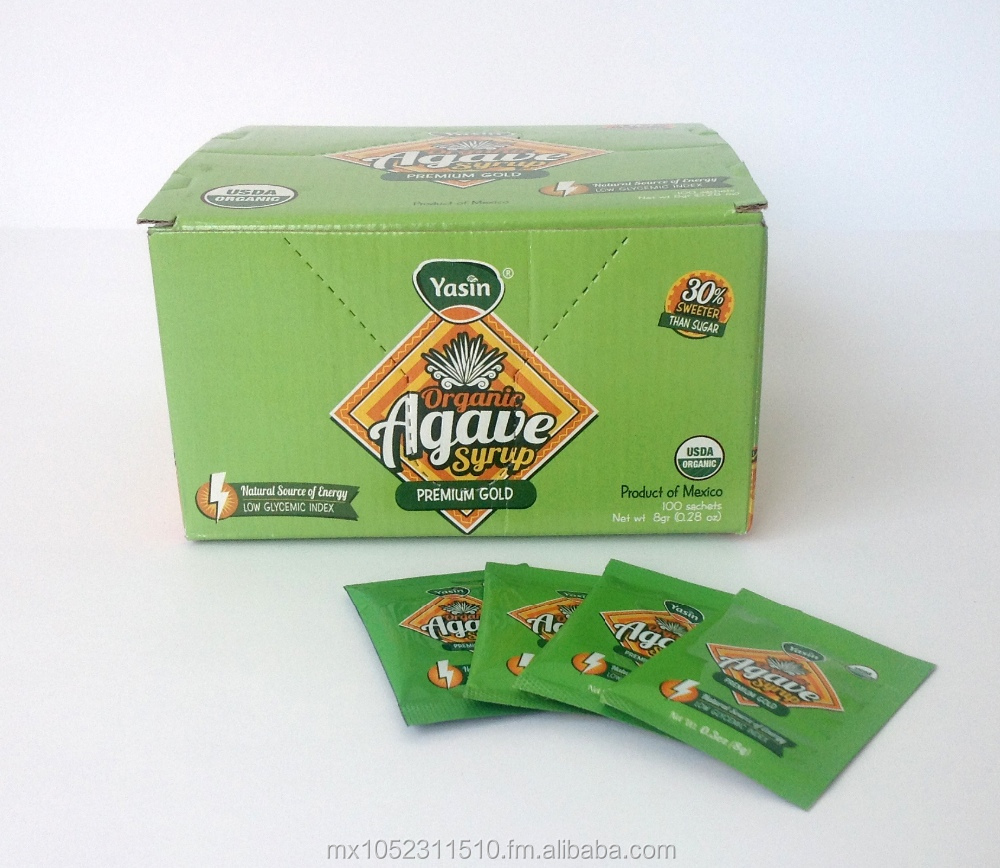 AGAVE SYRUP DISPENSER BOX WITH 100 SACHETS OF 8GR