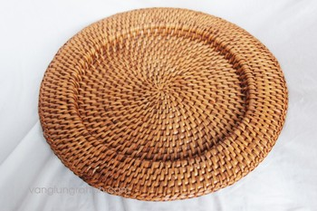 Rattan Bamboo Charger Plate / Manufacturer rattan basket & Rattan Bamboo Charger Plate / Manufacturer Rattan Basket - Buy Round ...
