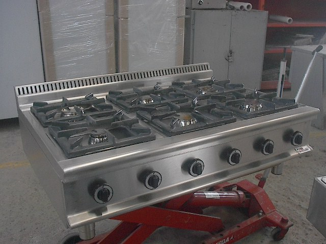 4 Burners Plus Grill With Oven Gas Range Hotel Kitchen