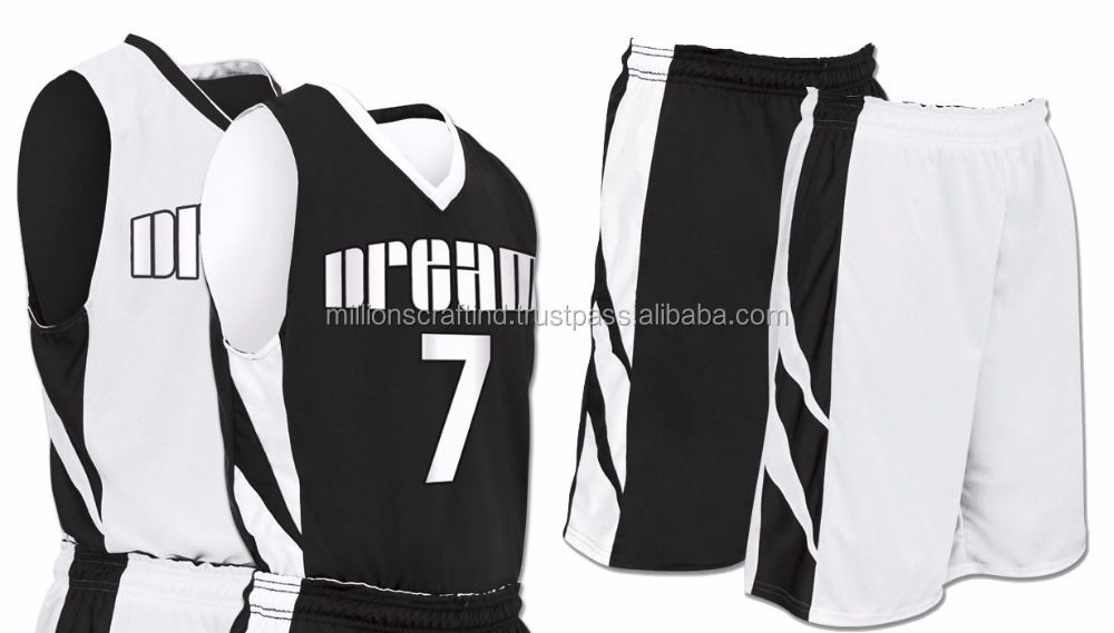 basketball jersey black and white