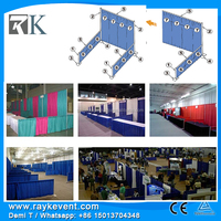 RK Wedding Trade show booth design software exhibition pipe drape