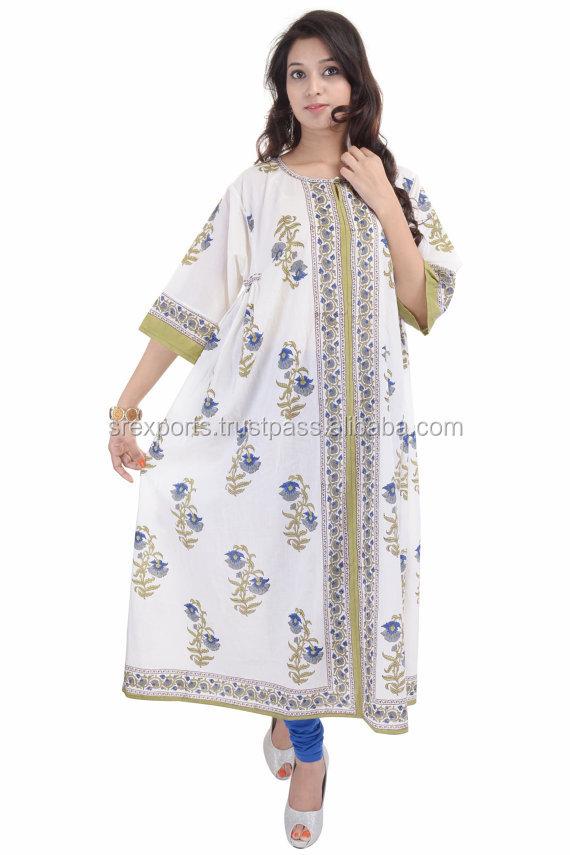 Stylish Women Cotton Long Dress Indian Bhopali Women Long Hippie ...