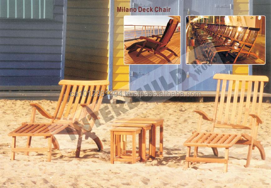 Cómodo solitario rango Milano silla de cubierta de madera maciza ...