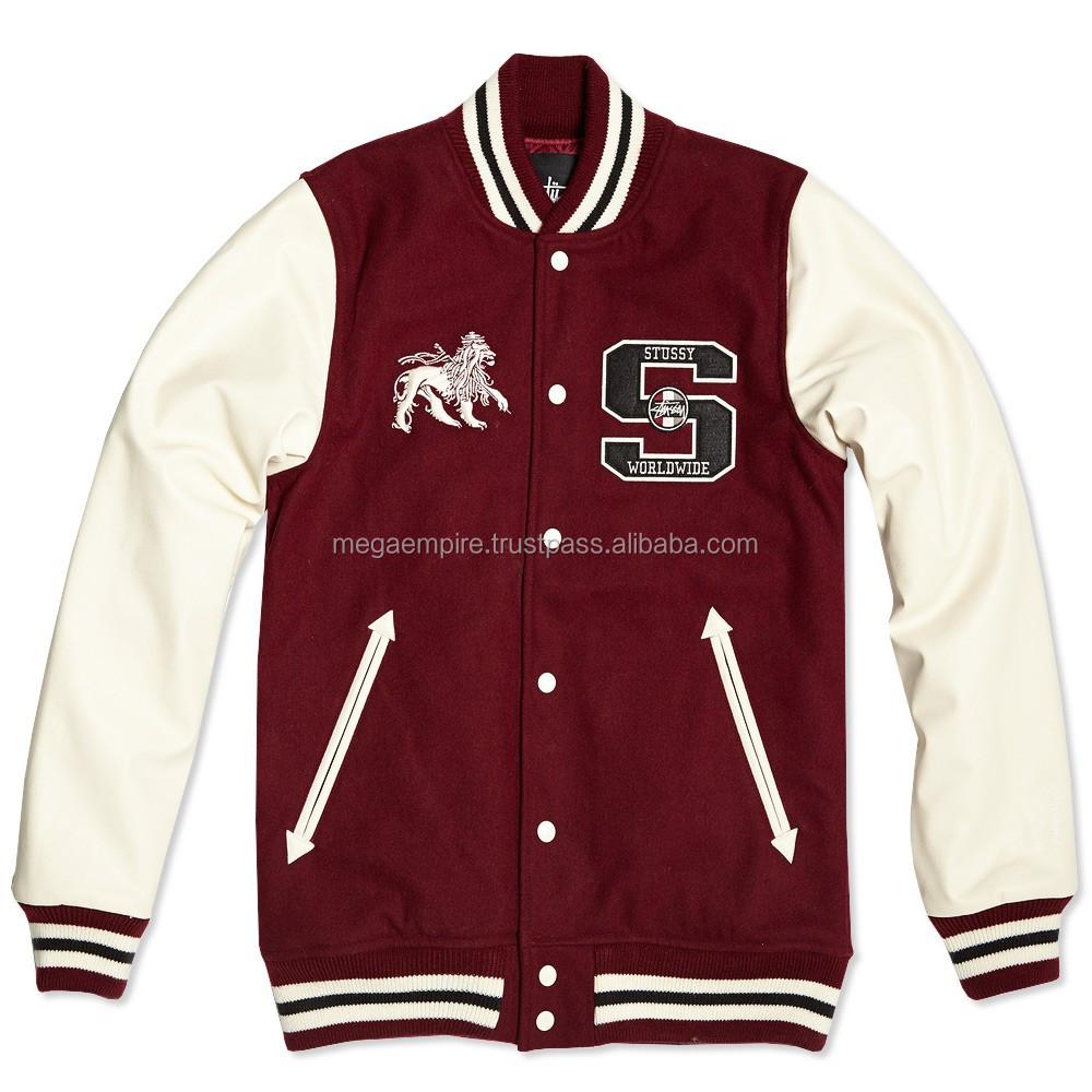 Custom Satin Baseball Jackets Customize Logo Baseball Jacket