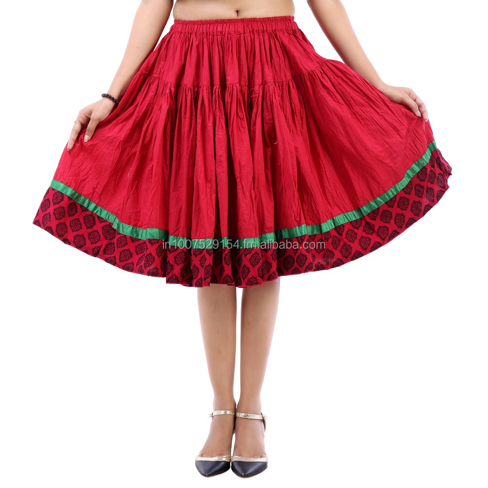 Vastra Vinod Women's Casual Wear Adorable Cotton Skirt