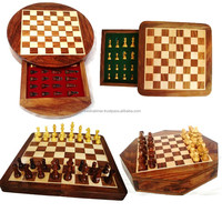 India Magnetic Wooden Chess set with Folding Board
