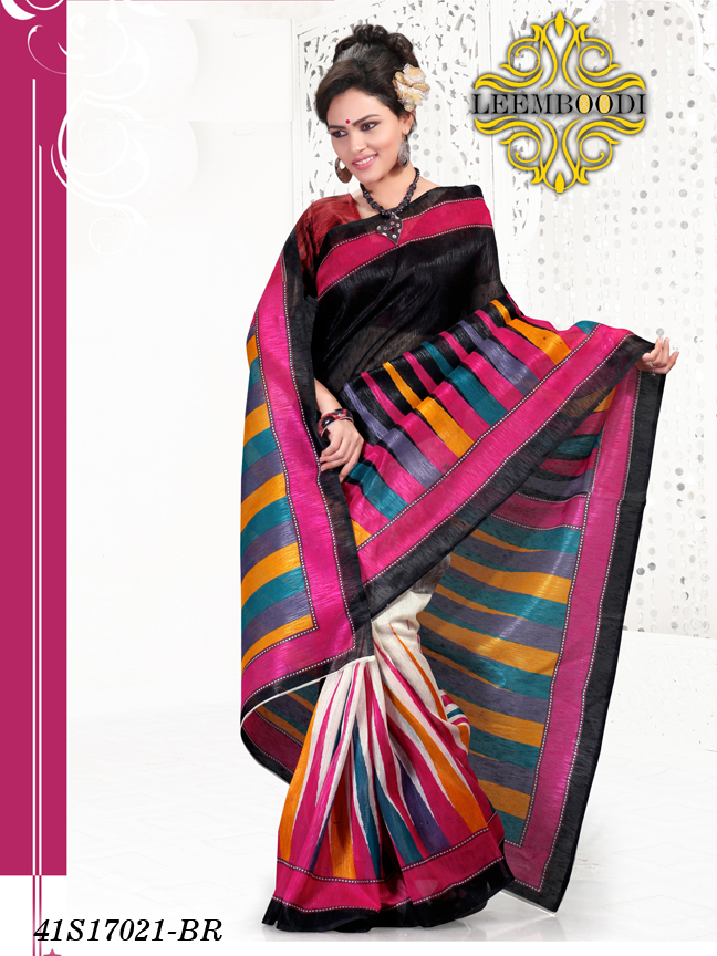 semi paithani saree/black mirror work blouse designer saree/saree border/LM