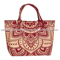Feather Mandala Handbag Shoulder Bags Tote Purse Ladies Messenger Hobo Bag India
