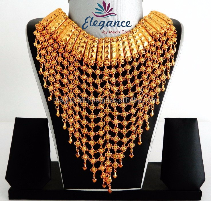 2015 New Jodha Akbar Bridal Necklace Sets-wholesale Gold Plated ...