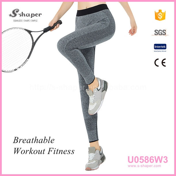 Fitness Girls Sports Yoga Tights With 86% Nylon 14% Elastane Yoga Leggings
