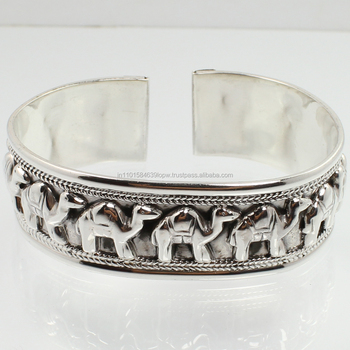 Fashion Style 925 Sterling Silver Gemstones Cuff Bracelet Wholesale Jewelry