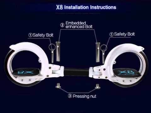 Details about  Cool X8 Skatecycle Two-wheel Hubless Self-propelled Skateboard Scooter Freerider
