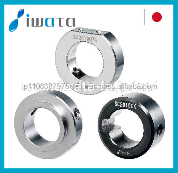 Durable high precision stainless steel shaft set collar made by Japanese manufacture