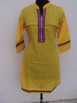 Stand Collar Designs For Kurti : Latest kurti designs in karachi beautiful long kurti