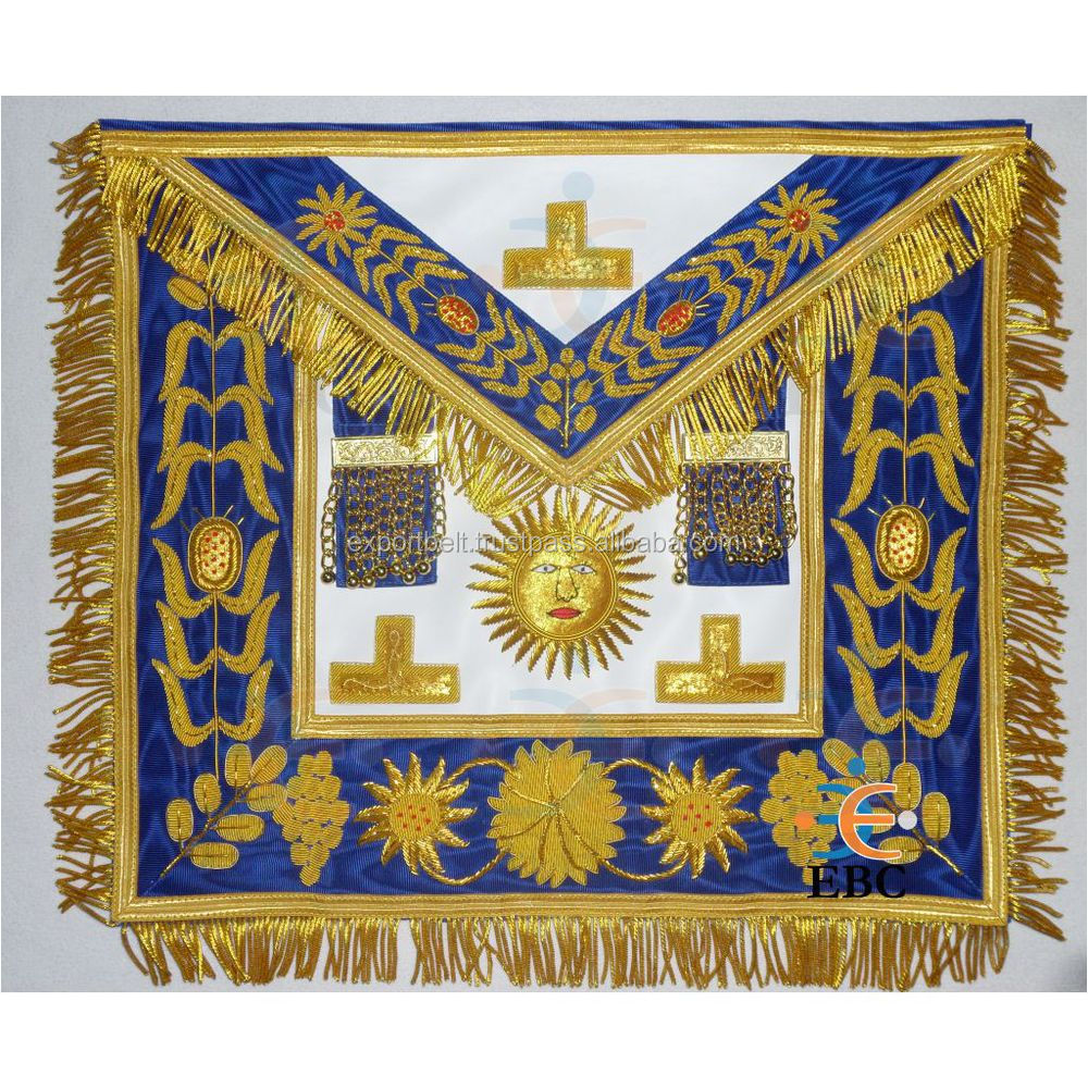Masonic Regalia Master Mason BLUE EMBROIDERED Apron
