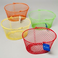 WIRE HANDLED BASKET OVAL PE COATED WIRE MESH 7.5X5.5X5H #G20285B