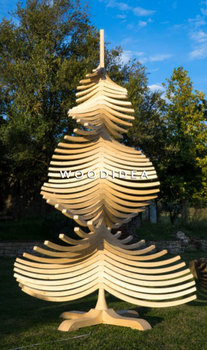 albert big 500 cm giant wooden christmas tree christmas outdoor decoration