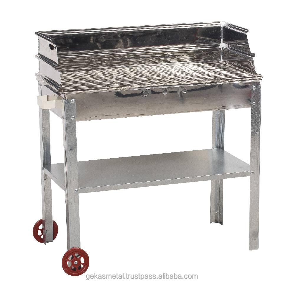 In Acciaio Inox BARBECUE Grill N80 Trolley (Bonne Metallo Griglie-G-0505-N80)