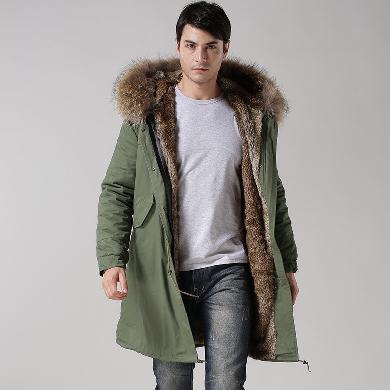 2017 Fashion High-end Italian Style Faux Rabbit Fur Lining Coat ...