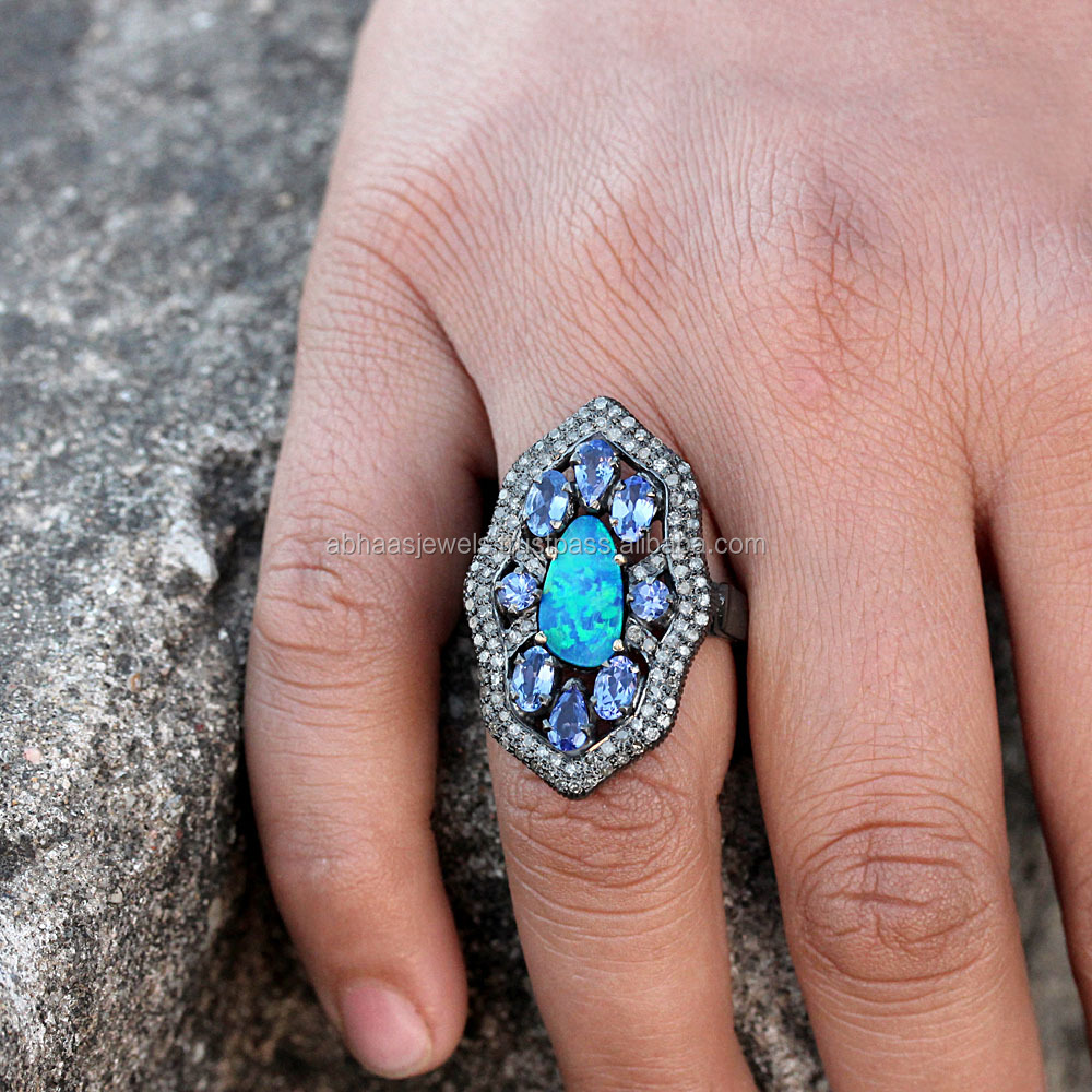 Opal And Tanzanite Ring, Opal And Tanzanite Ring Suppliers and ...