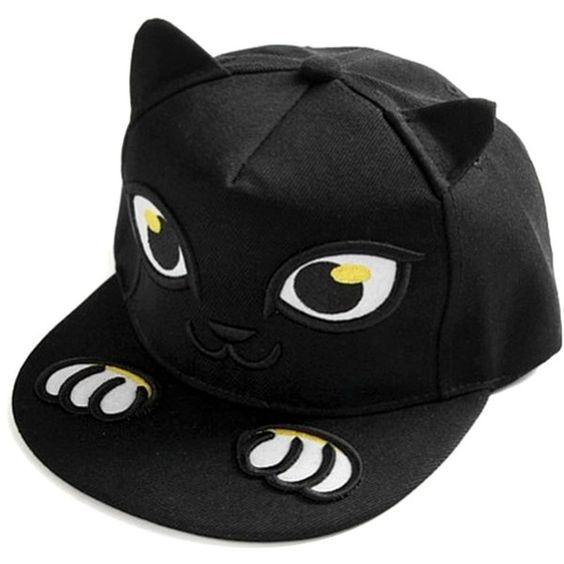 Fashion Cute Custom Black Cat Ears Snapback Hat - Buy Snapback ... 6a175e39535