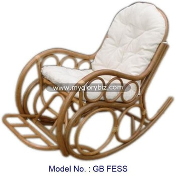 Antique Design Natural Rattan Rocking Chair Indoor Home Furniture, Relax Rocking  Chair For Living Room