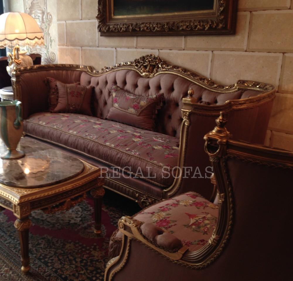Luxury Antique Mauve Pink Fl