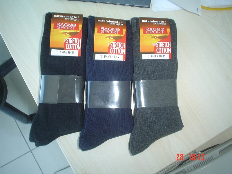MENS DOUBLE CYLINDER REGENERATED YARN SOCKS