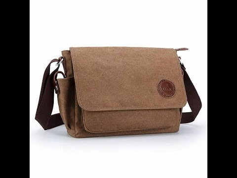 OXA Vintage Canvas Messenger Bag Shoulder Bag Laptop Bag ipad Bag Book Bag Satchel School Bag Crossb