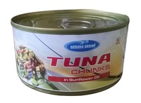 Canned Yellowfin tuna chunk