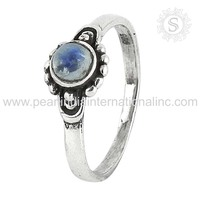 Spectacular Natural Rainbow Moonstone 925 Silver Ring Sterling Silver Jewelry Wholesale